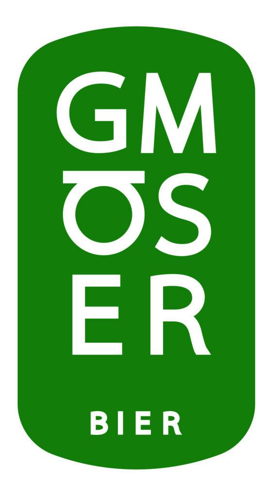 Logo Gmöser Bier, moosgrün